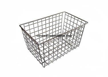 Polishing Food Grade Welded Metal Wire Basket With Legs For Drying